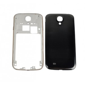 Samsung Galaxy S4 I9505 - Middle Frame + Battery Cover Black