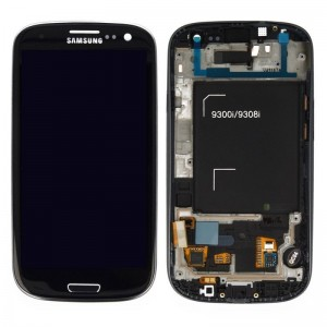 Samsung Galaxy S3 Neo i9301 - Full front LCD Digitizer With Frame  Black  ( Refurbished )