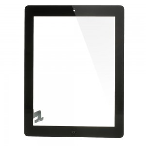 iPad 2 - Front Glass Digitizer With 3M Adhesive Sticker Black