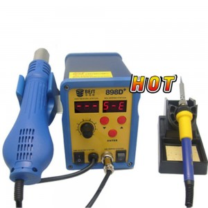 BEST-898D+ 2 in 1 Heat Air Gun and Soldering Iron Station