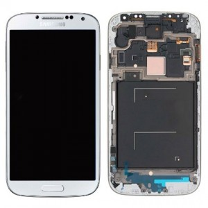 Samsung Galaxy S4 I9506 - Full Front LCD Digitizer With Frame White  ( Refurbished )