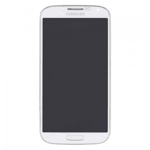 Samsung Galaxy S4 I9500 - Full Front LCD Digitizer With Frame White ( Refurbished )