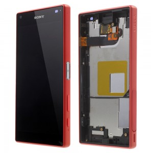 Sony Xperia Z5 Compact E5823 - Full front LCD Digitizer With Frame Red