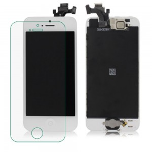 iPhone 5 – LCD Digitizer (original remaded) Full assembled White