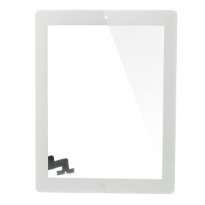 iPad 2 - Front Glass Digitizer With 3M Adhesive Sticker White