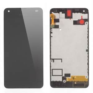 Nokia Lumia 550 - Full Front LCD Digitizer With Frame Black