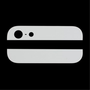 iPhone 5 - Back Cover Bottom And Top Glass White