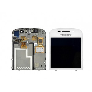 Blackberry Q10 - Full Front LCD Digitizer With Frame White
