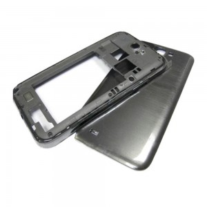 Samsung Note 2 N7100 - Middle Frame + Battery Cover Grey