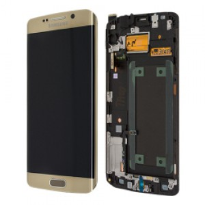 Samsung Galaxy S6 Edge Plus G928F - Full front LCD Digitizer with frame Gold