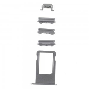 iPhone 6S -  SIM Card Tray Holder and Side Button Set Grey