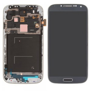 Samsung Galaxy S4 I9505 - Full Front LCD Digitizer With Frame Electric Blue ( Refurbished )