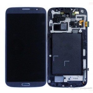 Samsung Galaxy Mega 6.3 I9200 - Full Front LCD Digitizer With Frame Blue