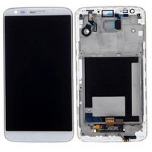 LG Optimus G2 D802 - Full Front LCD Digitizer With Frame White