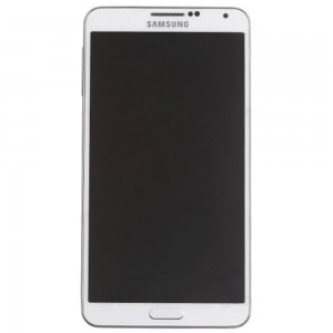Samsung Note 3 N9000 - Full Front LCD Digitizer With Frame White
