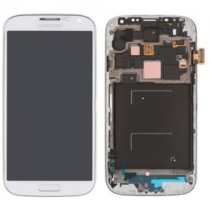 Samsung Galaxy S4 I9505 - Full Front LCD Digitizer With Frame White ( Refurbished )