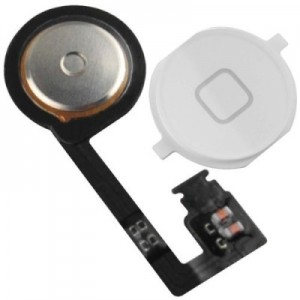 iPhone 4S - Home Button Flex + Home Button 4S White