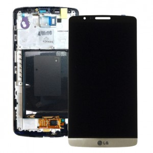 LG G3 D855 - Full Front LCD Digitizer with Frame Gold
