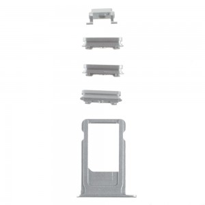 iPhone 6S -  SIM Card Tray Holder and Side Button Set Silver