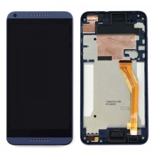 HTC Desire 816 - Full Front LCD Digitizer with Frame Blue