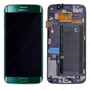Samsung Galaxy S6 Edge G925 - Full Front LCD Digitiizer Green With Frame