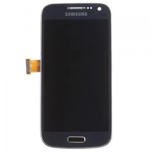 Samsung Galaxy S4 Mini I9195 - Full Front LCD Digitizer With Frame Blue ( Refurbished )