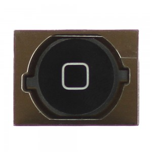 iPhone 4S - Home Button Black with Rubber