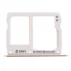 Samsung Galaxy A310 A510 A710 - SIM Card and SD Tray Holder Gold