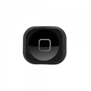 iPhone 5 - Home Button Plastic with Rubber Black