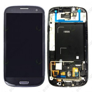Samsung Galaxy S3 I9305 - Full Front LCD Digitizer With Frame Blue  ( Refurbished )