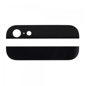 iPhone 5 - Back Cover Bottom And Top Glass Black