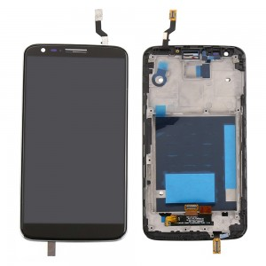 LG Optimus G2 D802 - Full Front LCD Digitizer With Frame Black