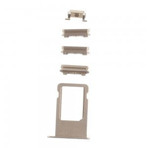 iPhone 6S -  SIM Card Tray Holder and Side Button Set Gold