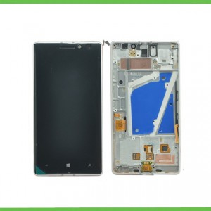 Nokia Lumia 930 - Full Front LCD Digitizer With Frame White