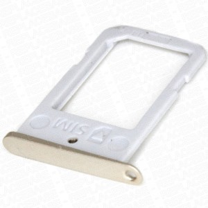Samsung Galaxy S6 Edge G925 - SIM Card Tray Holder Gold