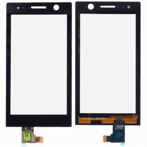 Sony Xperia U ST25i - Front Glass Black