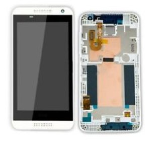 HTC Desire 610 - Full Front LCD Digitizer with Frame White