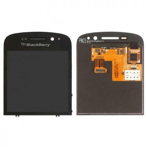 Blackberry Q10 - Full Front LCD Digitizer With Frame Black