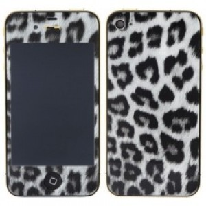 iPhone 4S - LCD Digitizer  A+++ + Back Cover   Leopard