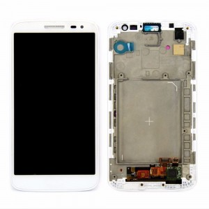 LG G2 Mini D618 - Full front LCD Digitizer  With Frame White