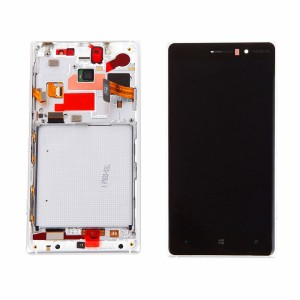 Nokia Lumia 830 - Full Front LCD Digitizer with Frame White