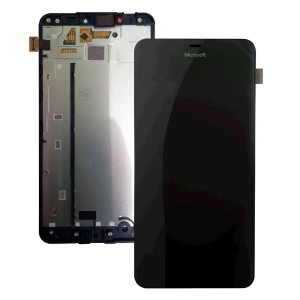 Microsoft Lumia 640 XL - Full Front LCD Digitizer With Frame Black