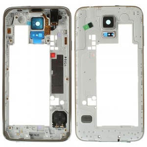 Samsung Galaxy S5 G900F - Middle Frame Complete Grey Rev 0.3