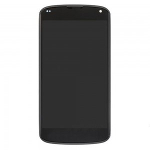 LG Nexus 4 E960 - Full Front LCD Digitizer With Frame Black
