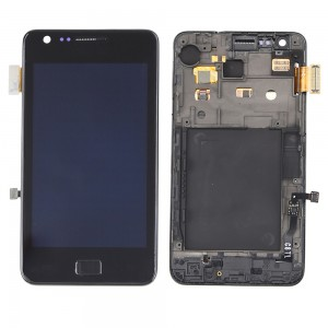 Samsung Galaxy S2 I9100 - Full Front LCD Digitizer With Frame Black ( Refurbished )