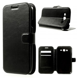 Samsung Galaxy Grand Neo I9060 - Crazy Horse Leather Case W/ Card Slots