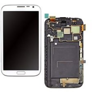Samsung Note 2 N7105 - Full Front LCD Digitizer with Frame White