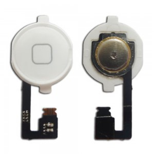 iPhone 4G - Home Button Flex With Plastic White