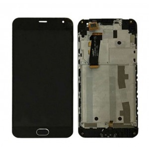 Meizu M2 Note - Full Front LCD Digitizer With Frame Black