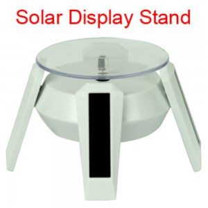 Solar Rotating Display Stand